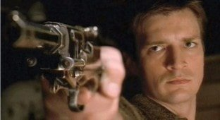 "Relentlessly heroic.  Fillion in ""Firely."""
