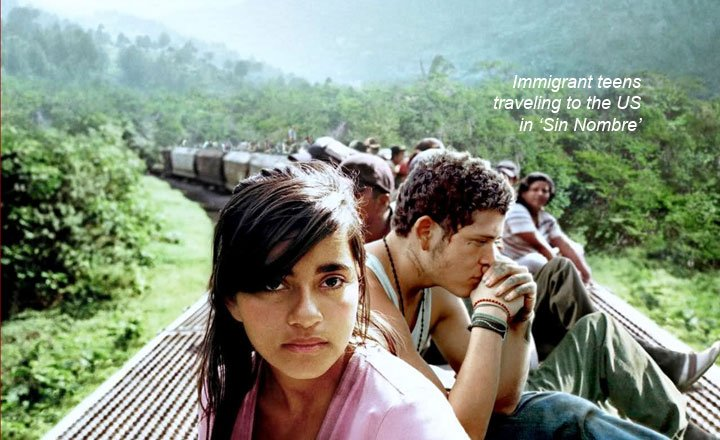 Teens on a Train from Sin Nombre