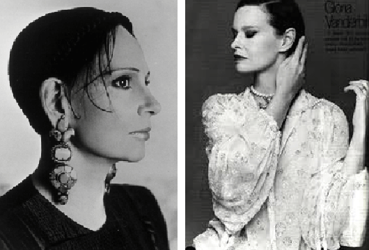Mary McFadden and Gloria Vanderbilt
