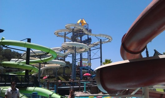 Slides at Raging Waters Theme Park