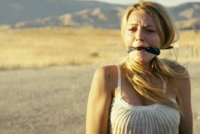 Blake LIvely gagged in Savages