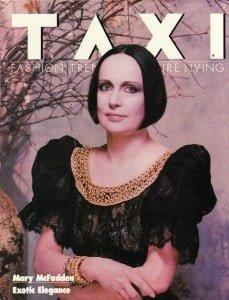 Mary McFadden Taxi Magazine