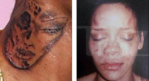 Chris Brown Neck Tattoo Rihanna Beaten