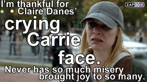 Crying Claire Danes in Homeland