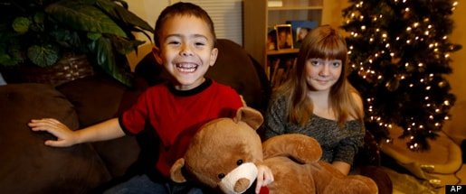 McKenn Pope (right) with her 4-year-old brother, Gavyn, for whom she fought for the right to Easy-Bake