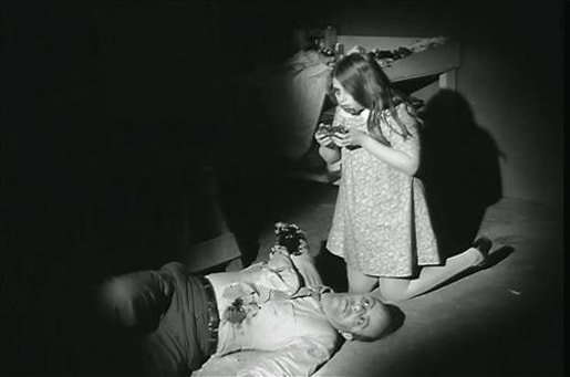 'The Bad Seed' zombie from 'Night of the Living Dead.'