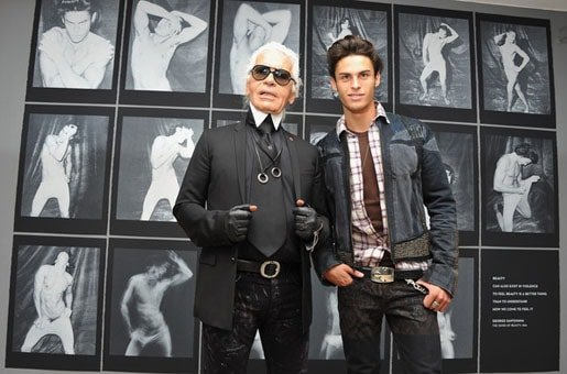 Karl with 'boyfriend' Baptiste Giabiconi