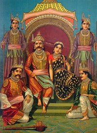 Draupadi and her five husbands
