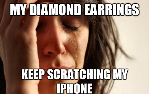 A First World Problems meme
