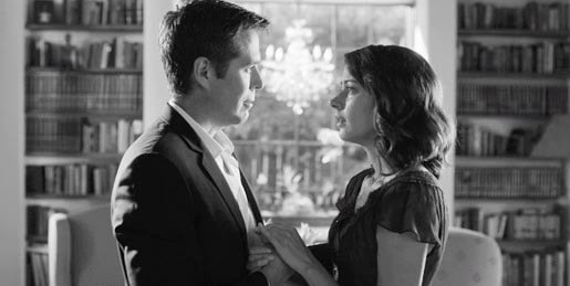 Alexis Denisof as Benedick and Amy Acker as Beatrice