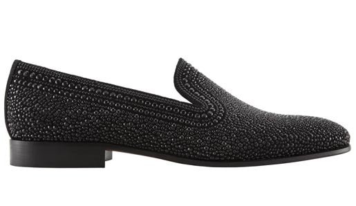Valentino Black Crystal Loafers