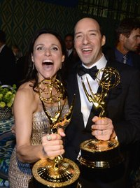 Julia Louis-Dreyfuss and co-star Tony Hale