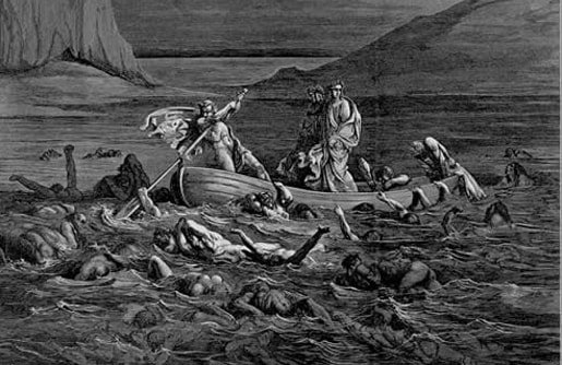 Dante crossing the Styx, by Gustav Doré