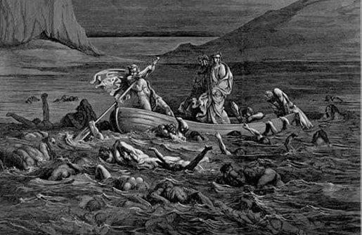 Dante crossing the Styx, by Gustav Doré
