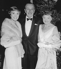 Julie Andrews, Walt Disney and Pamela Travers