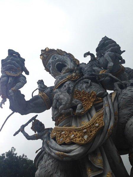 Angry god Bali