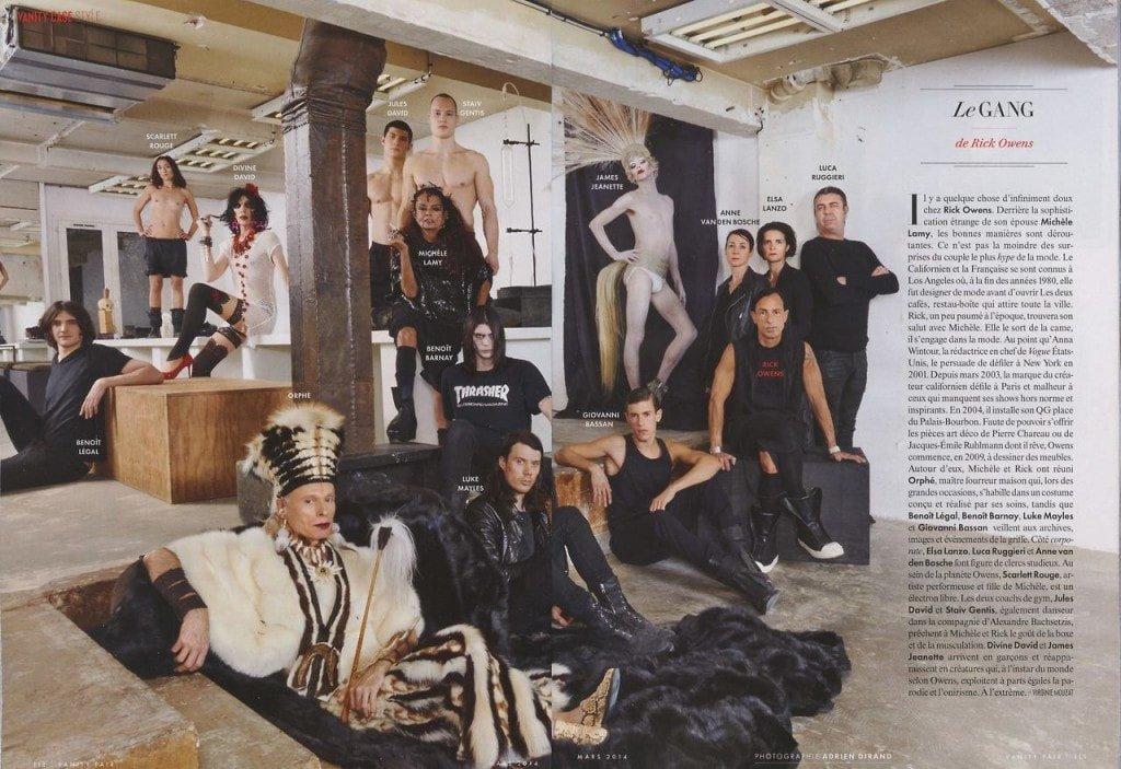 Rick Owens fmaily Vanity Fair France