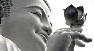 Buddha holding Lotus