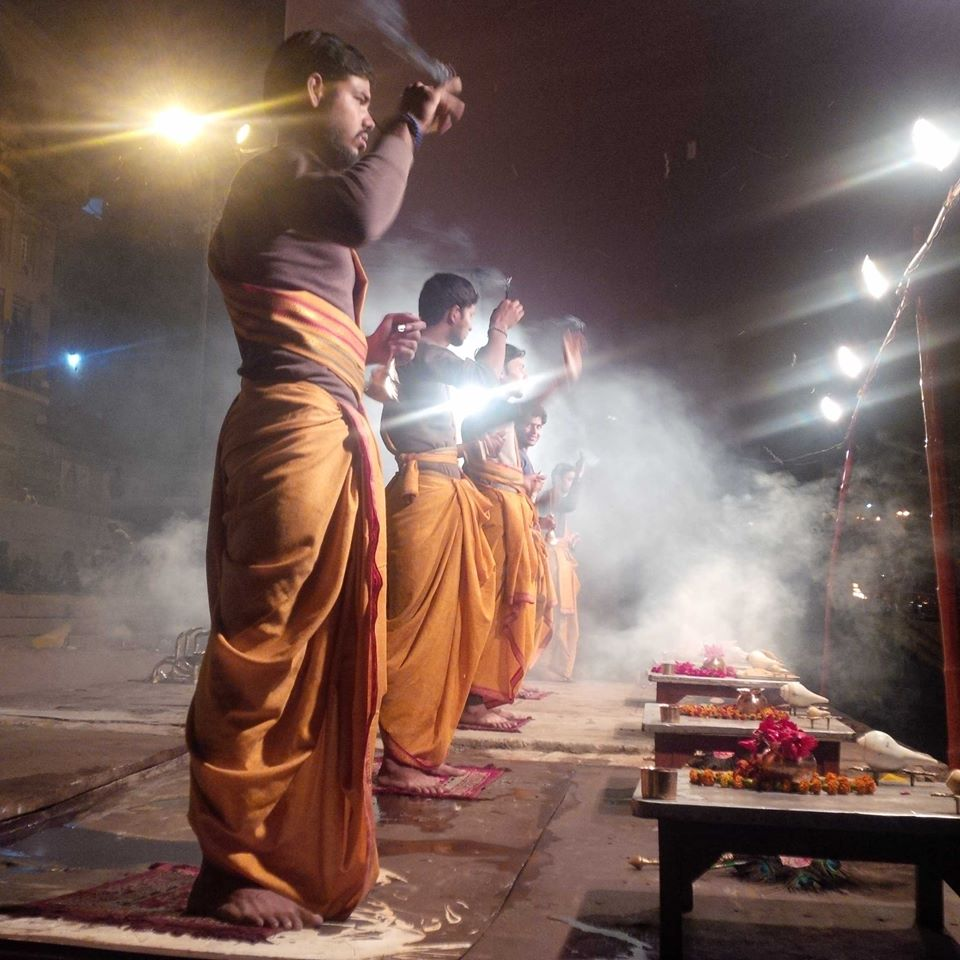 Nightly puja at Dashashwamedh Ghat.